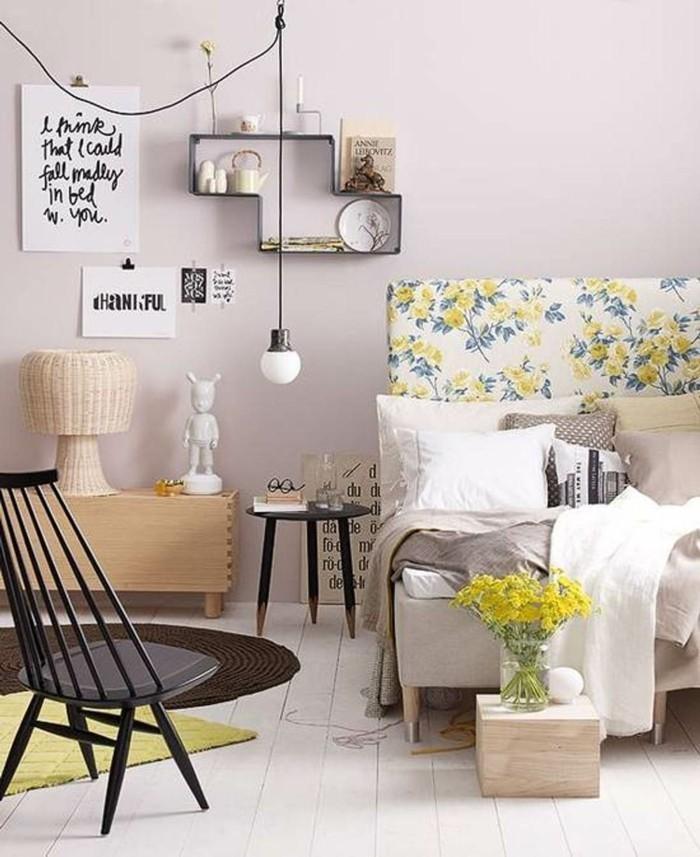 wohnung einrichten ideen schlafzimmer einrichten vintage blumenmuster