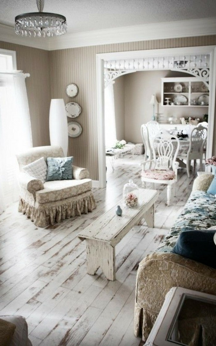 einrichtungsideen im shabby chic stil verspielter charme. Black Bedroom Furniture Sets. Home Design Ideas