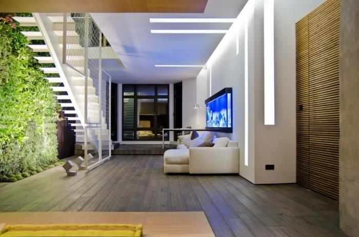 wohnung einrichten ideen wohnzimmer umweltstil innentreppen