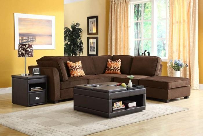 Wohnungseinrichtung kombinationen mit gelb in der - Gelbe couch welche wandfarbe ...