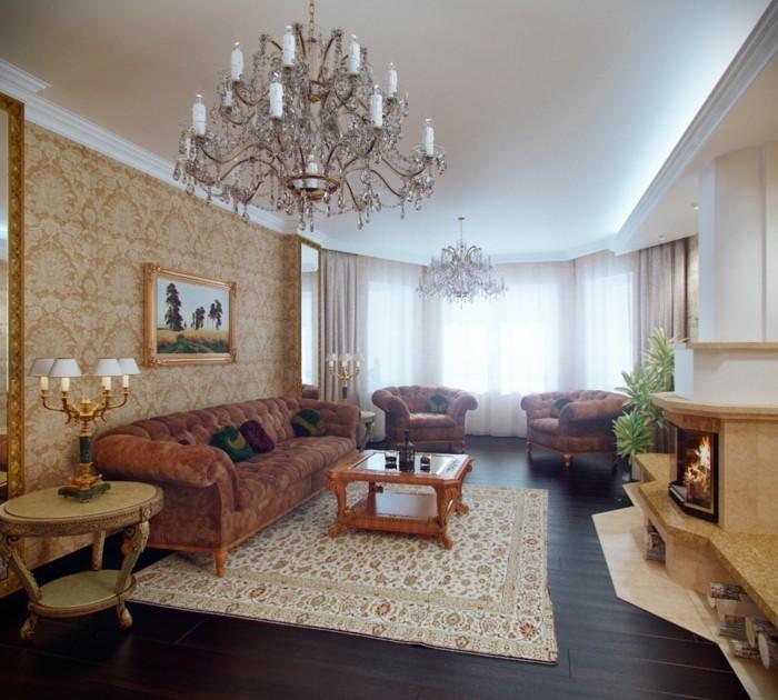 wohnungsgestaltung wohnideen wohnzimmer muster kombination