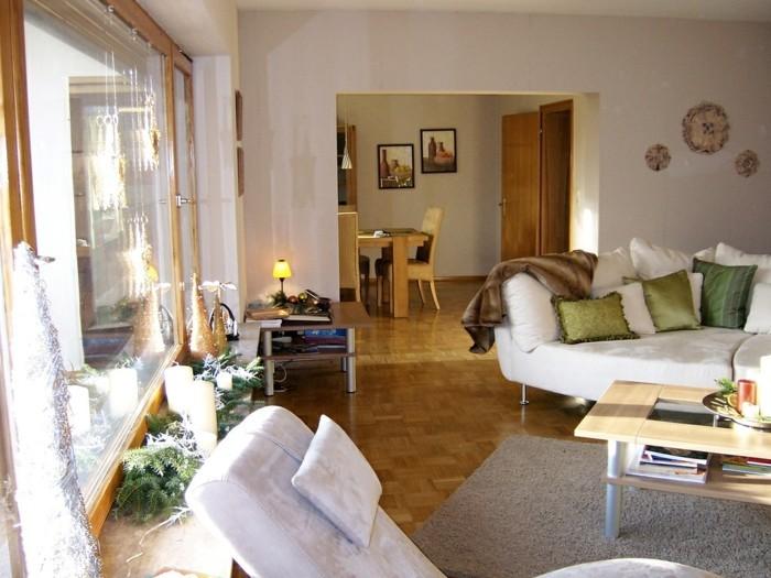 wohnungsgestaltung wohnzimmer einrichten helle möbel parquette