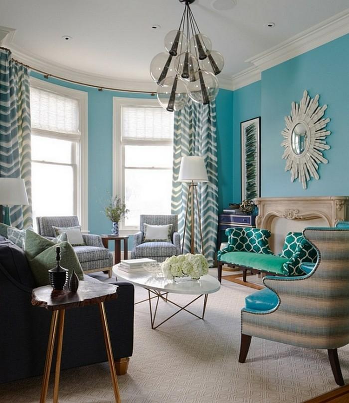wohnungsgestaltung wohnzimmer muster heller teppich