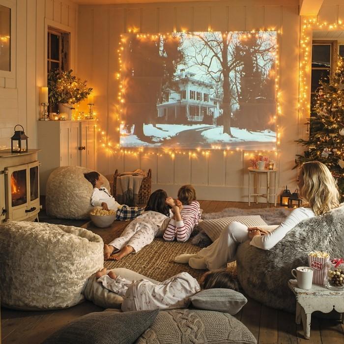 wohnzimmer einrichten sitzsäcke einrichtungsideen familie