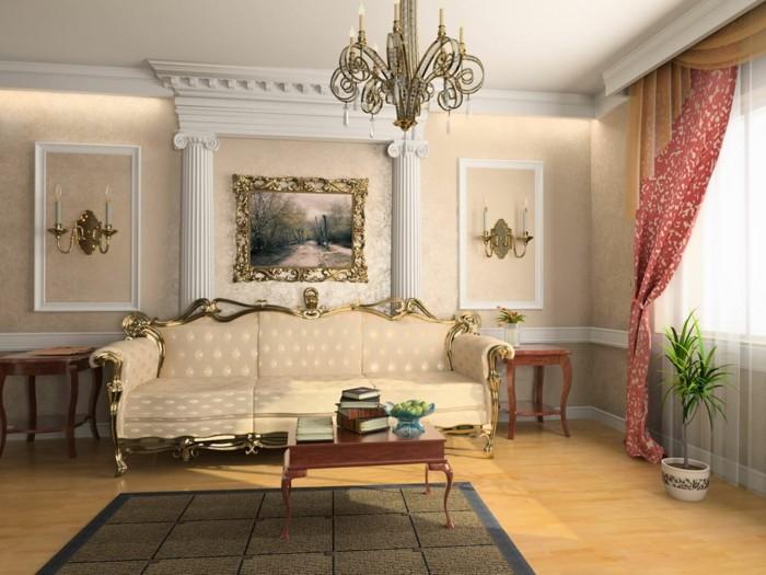 Zimmer einrichten ideen im stil rokoko welche dem raum - Ausgefallene wandleuchten ...
