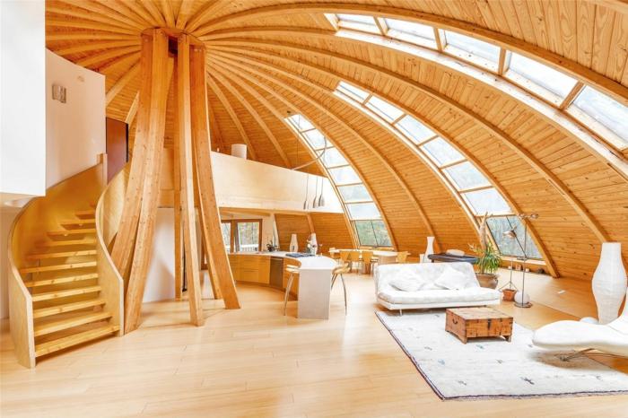 ökohaus bauen holzhaus kuppelformig