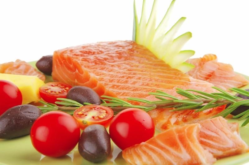 fisch diat lachs salat gesunde ernahrung