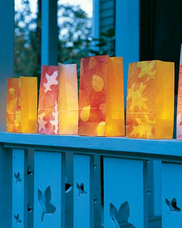 herbst deko ideen farbgestaltung diy ideen bastelideen12