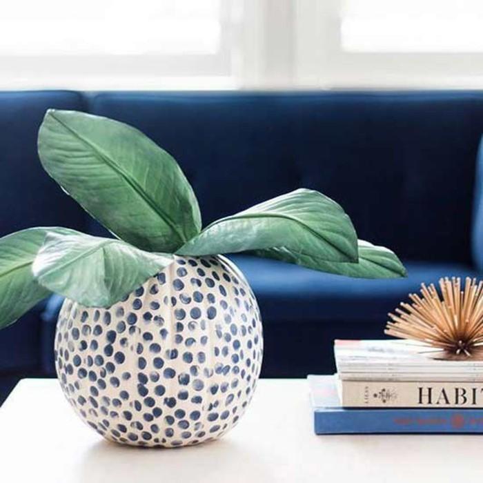 herbst dekoration hawolleen deko ideen kurbis deko vase