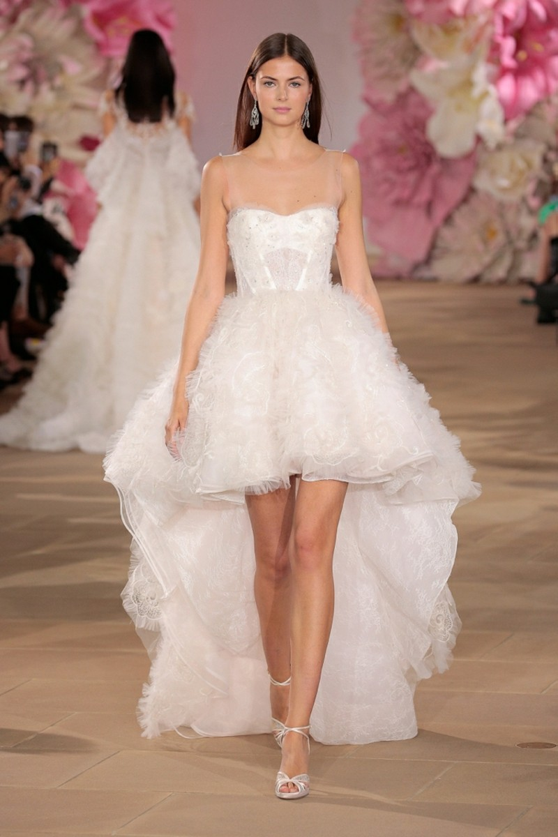 """""""NEW YORK, NY - APRIL 15: A model walks the runway wearing the Ines Di Santo Bridal Collection Spring 2017 on April 15, 2016 in New York City. (Photo by Randy Brooke/Getty Images for Ines Di Santo)"""""""