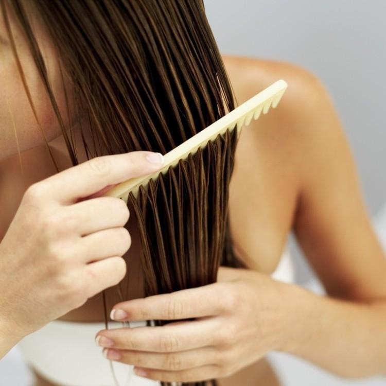 kokosöl haare kämmen richtige haarpflege