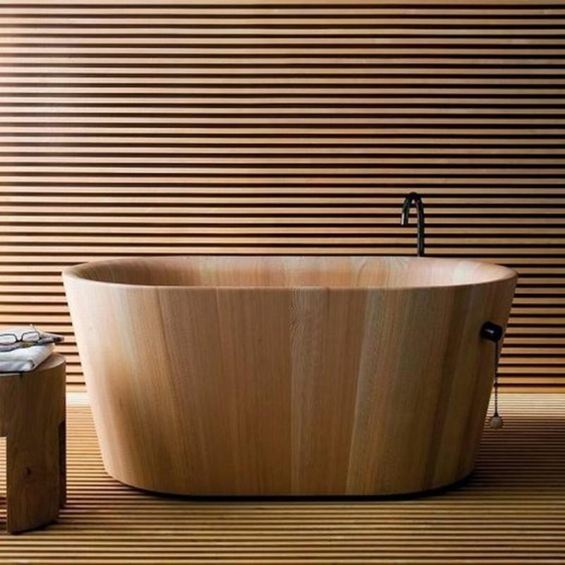 lärchenholz vorteile badmobel badewanne holz