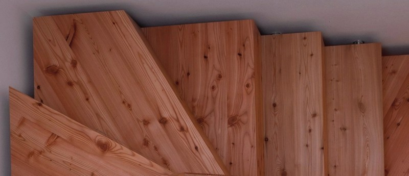 lärchenholz vorteile treppenhaus holzstufen