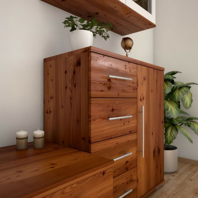 Lärchenholz Vorteile Holzkommode Regal Holzmobel
