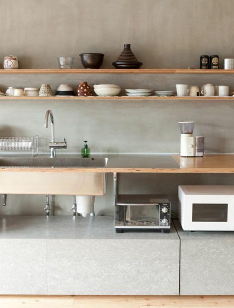 lärchenholz vorteile küchenmobel küchenarbeitsplatte