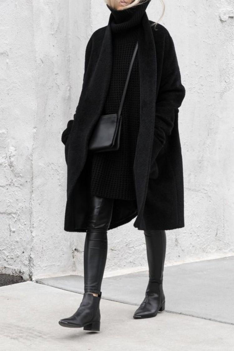 stiefelletten damen herbstmode trendsfarben schwarz
