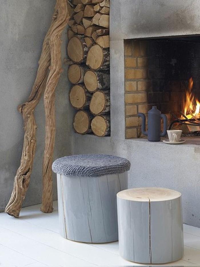Kamin design tipps und ideen f r mehr staufl che - Betonwand wohnzimmer ...