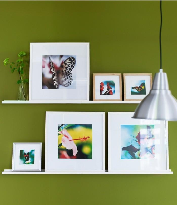 bilderleisten wandbilder deko grüne wand