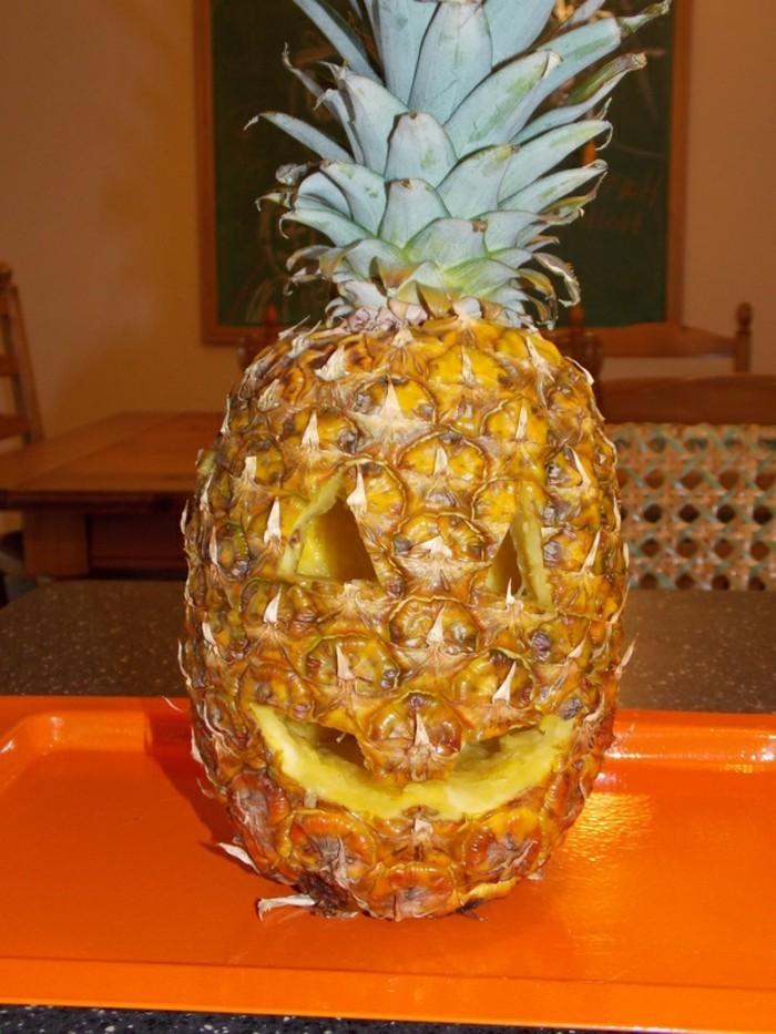 deko halloween ananas monster basteln