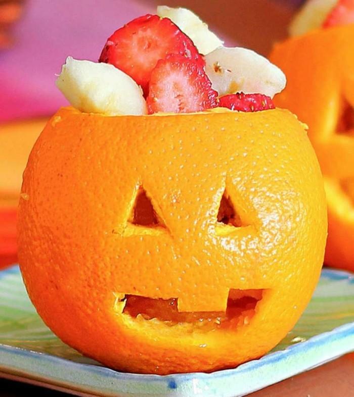 deko halloween orange monster basteln