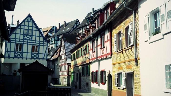 deutsches wohnen kleine stadt fachwerkhaus
