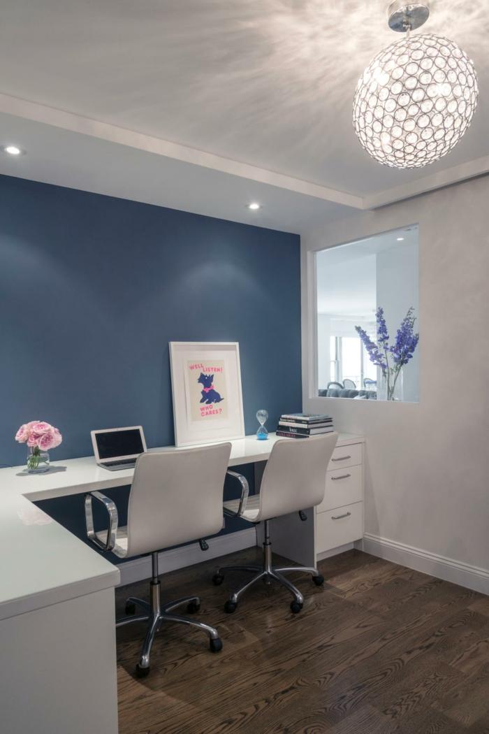 einrichtungsideen wohnzimmer wie sie den wohnbereich mit dem home office vereinigen. Black Bedroom Furniture Sets. Home Design Ideas