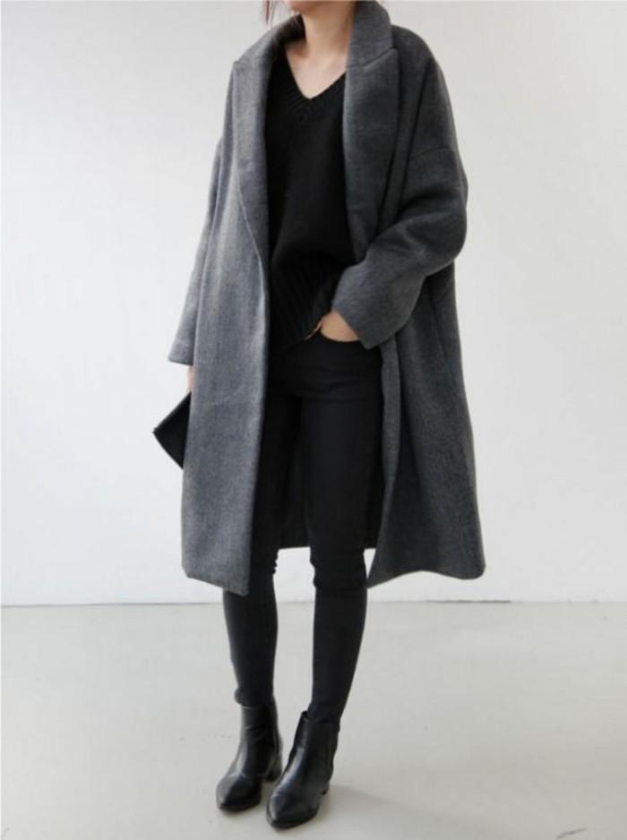 grauer mantel wintermode trends aktuelle wintermode