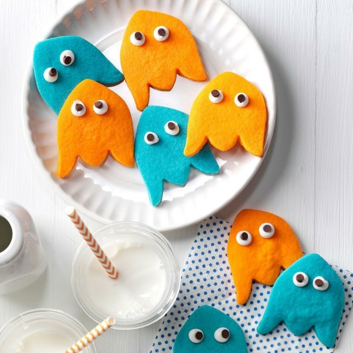 halloween ideen gespenster kekse zubereiten
