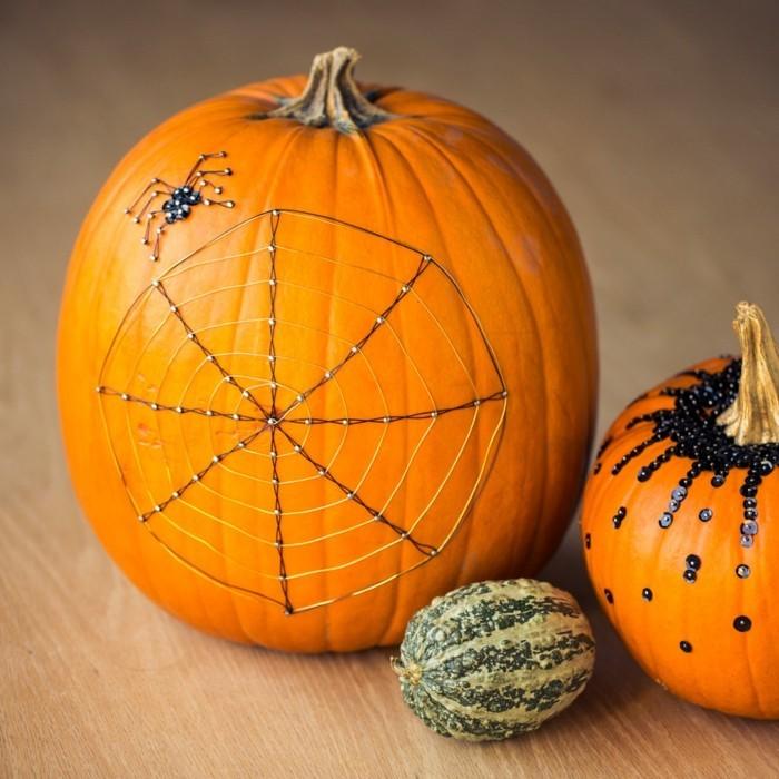 halloween ideen kürbisse dekorieren