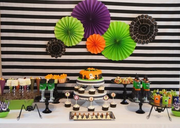 halloween ideen süßigkeiten zubereien lustig wanddeko