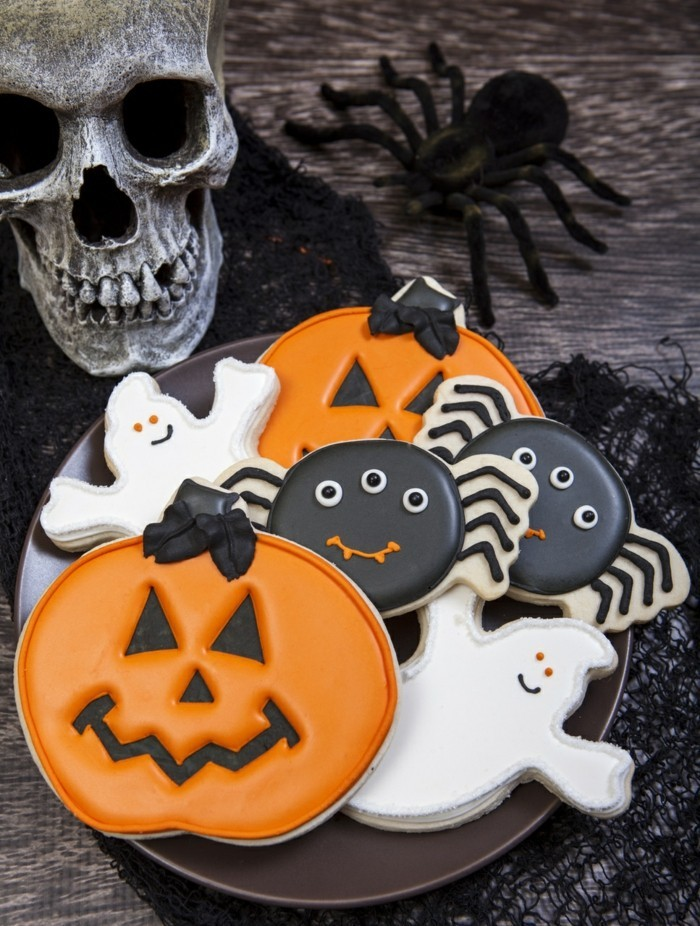 halloween ideen kekse kürbisse gespenster