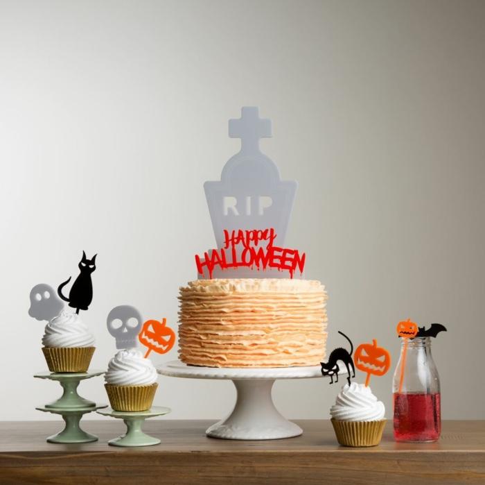 halloween ideen tischdeko essen getränke