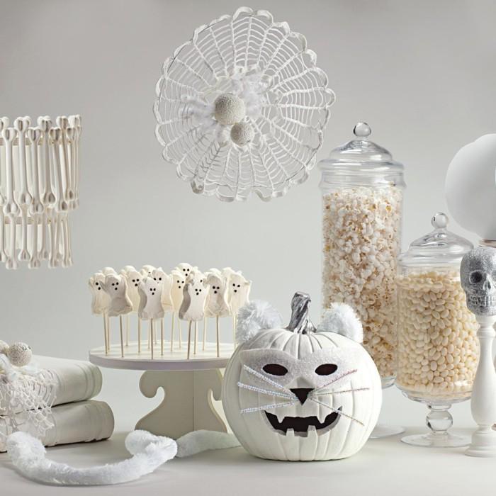 halloween ideen weisße dekoideen