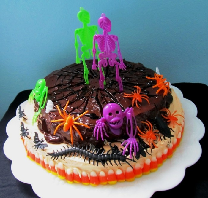 halloween party ideen gruselige ideen torte