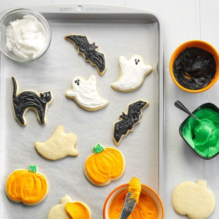 halloween party ideen kinder lustige kekse backen