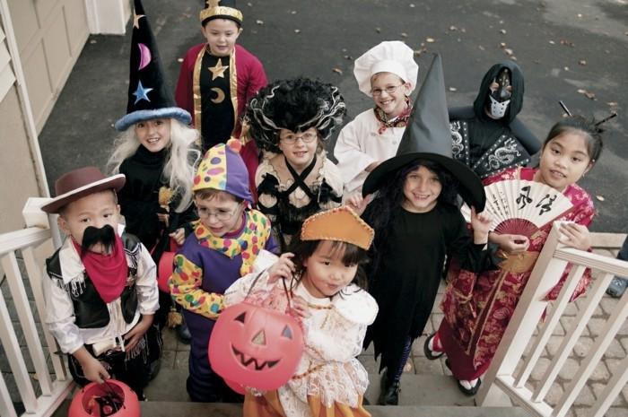 halloween party ideen kinder süßigkeiten sammeln