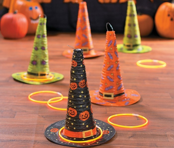 halloween party ideen kinder spiele hexenhut