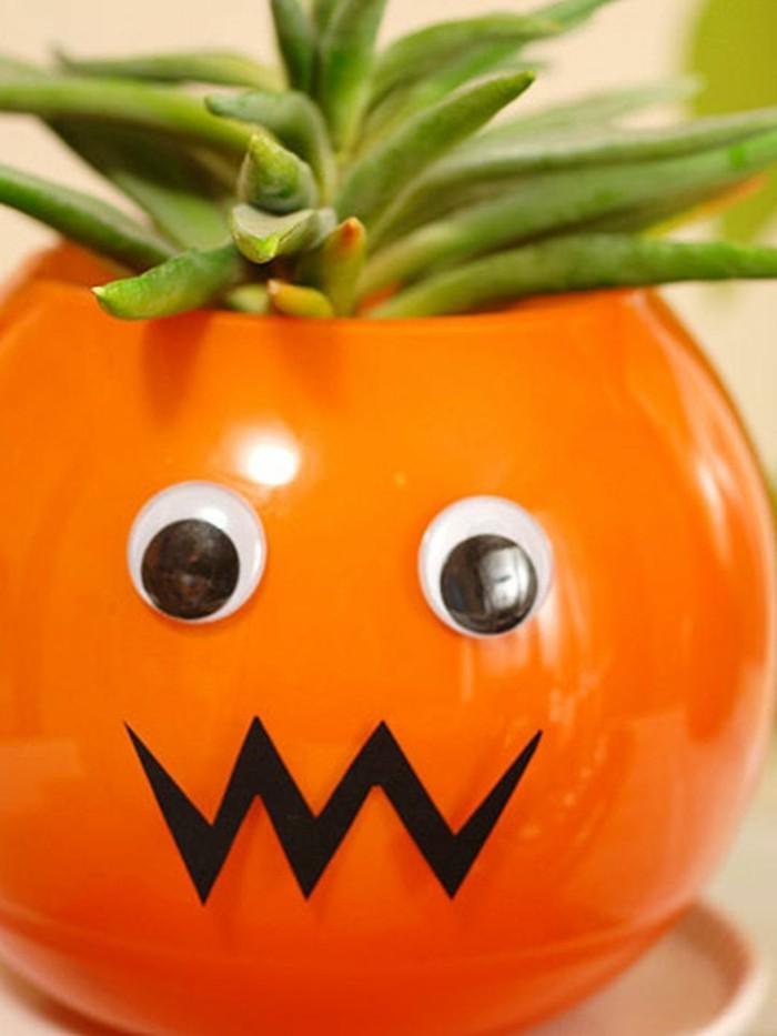 halloween party ideen tischdeko ideen plastikkürbiss