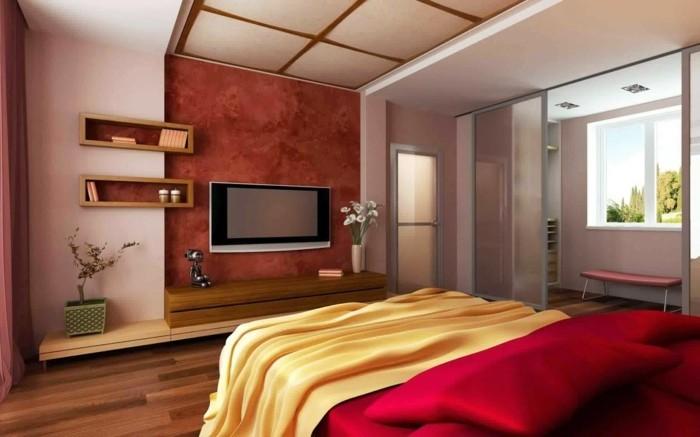 hausrenovierung bodenbelag laminat fernseher schlafzimmer