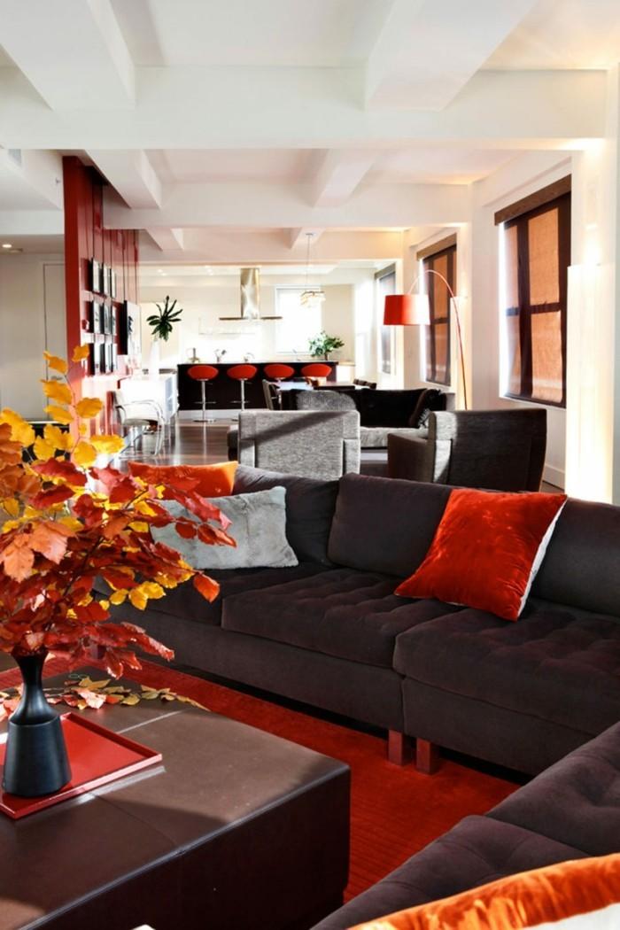 Herbst deko ideen farbgestaltung wandgestaltung wohnideen14
