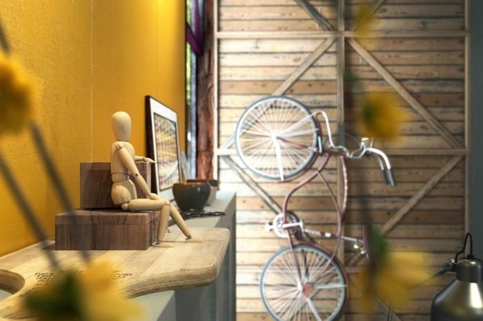 herbst deko ideen farbgestaltung wandgestaltung wohnideen15gold
