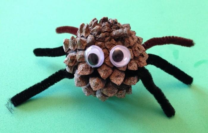 herbstliche deko zapfen kreative bastelideen kinder