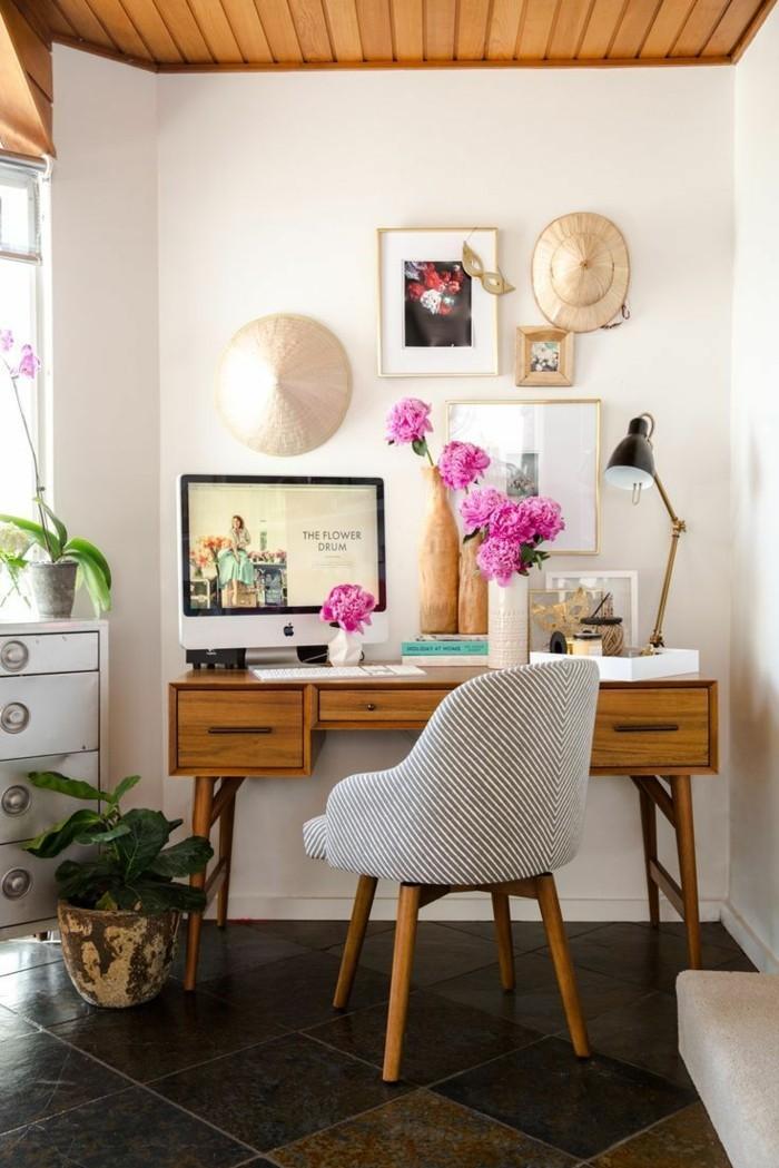 home office einrichten pflanzen stauraum ideen