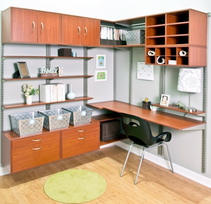 home office einrichten staufläche gemütlich modern