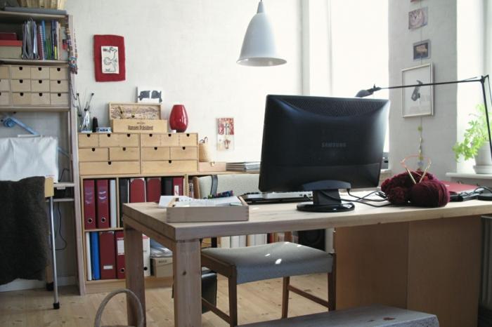 home office einrichten stauraum ideen wanddeko