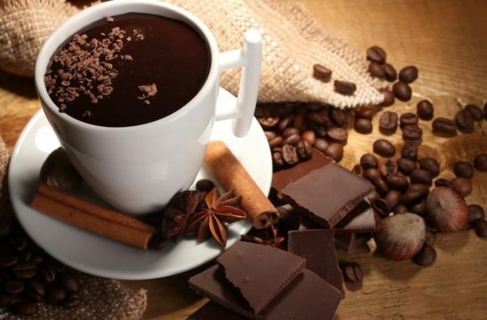 ist kaffee gesund bohnenkaffee espresso heisse schokolade kakaobohnen zimt anis