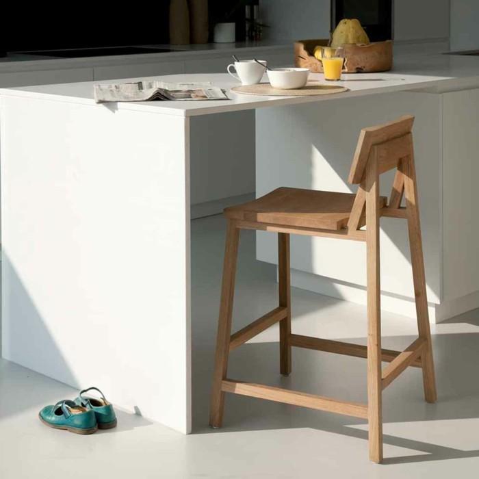 küchen ideen sitzplatze barhocker moderne kücheninsel