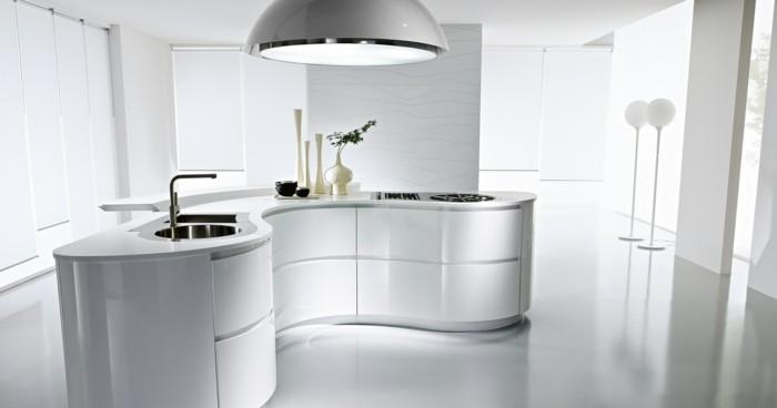 küchengestaltung ergonomische kuche ovale pendelleuchte weise kuchenmobel pedini