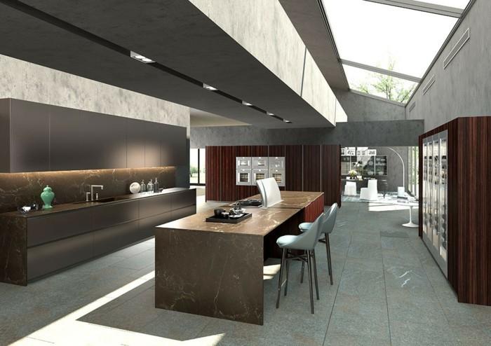 küchengestaltung italienische kuche marmor arbeitsflache kucheninsel