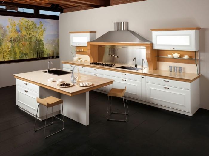 küchengestaltung italienische kuche modernes design landhausstil